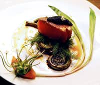 One of chef David Anthony's spring dishes at a recent Underground Dinner