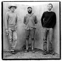 The Baker brothers, from left: Mark, David and William, in Marfa in 2003