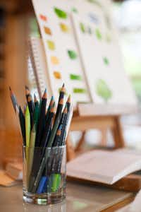 Narda's Aqua Monolith and Derwent pencils.