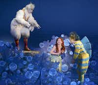 Dallas Summer Musicals' production of The Little Mermaid — with Jamie Torcellini as Scuttle, Alison Woods as Ariel and Adam Garst as Flounder — was part of what Michael Jenkins called a very robust season for the company.( Robert W. Hart  -  Special Contributor )