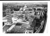 """From """"Saving Italy"""" by Robert Edsel: """"Deane Keller entered the Piazza dei Miracoli in Pisa on September 3, 1944 to discover the Camposanto without its roof. Within days experts from Florence arrived in Pisa to gather the shattered fragments that fire and sun had baked off the walls.""""  CREDIT: National Archives and Records Administration"""