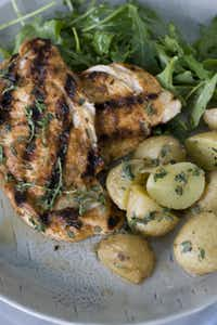 Spiced-rubbed chicken breast recipe in Concord, N.H.(MATTHEW MEAD - AP)