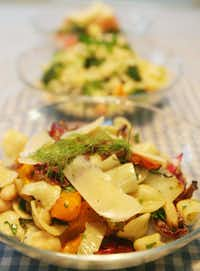Orecchiette is a good choice for salad because it's not tiny but not huge. Try it with grilled veggies.