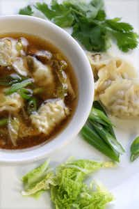 QUICK AND EASY CHICKEN WONTON SOUP - Frozen mini wontons are ideal to serve as a quick appetizer with a dipping sauce, or if you need a dish to pass at the last minute. They're precooked, so you just need to heat them. Another good way to use mini wontons is in making a quick wonton-style soup. All you do is add them frozen to boiling broth. It makes an instant, filling and flavorful soup in minutes.JESSICA J. TREVINO