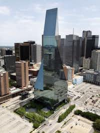 The 60-story Fountain Place tower is a standout on Dallas' skyline.