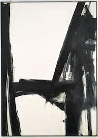 Slate Cross Franz Kline, American, 1910 - 1962 1961 Oil on canvas Overall: 111 1/4 x 79 1/4 in. (2 m 82.576 cm x 2 m 1.29 cm) Dallas Museum of Art, gift of Mr. and Mrs. Algur H. Meadows and the Meadows Foundation, Incorporated