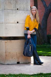 """Shelby Foster, fashion editor of SMU's """"The Daily Campus,"""" says college students are increasingly fashion-conscious."""