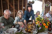 A Field to Vase Dinner  in the Blanco area included a flower field tour before a dinner of grilled pork chops with peach relish.( California Cut Flower Commission photos)
