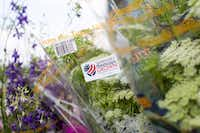 About 80 percent  of cut flowers are imported. This label identifies local blooms.(California Cut Flower Commission)