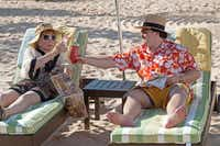 Shirley MacLaine played Marjorie Nugent and Jack Black was Bernie in the movie directed by Richard Linklater. Linklater will house Tiede in Austin.( File 2012  -  Deana Newcomb )