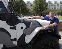Frisco council member John Keating shows the vehicle he'll be driving with Mayor Maher Maso in the Fireball Run.( Ron Baselice  -  Staff Photographer )
