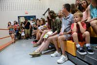 Rockwall High School's incoming freshmen and their parents attend a pep rally during the school's  fish camp on Aug. 14. Rockwall ISD has experienced an increase in enrollment, partly due to a recent change in enrollment policies that allows tuition-based enrollment for families who live outside the district.
