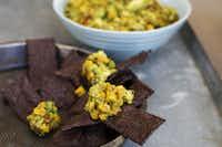 Chipotle corn guacamole.MATTHEW MEAD - AP