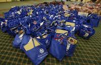 Buckner International in Dallas gathered school supplies for foster children in 2014. (File Photo/Staff)