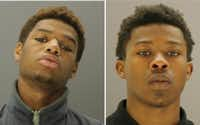 Donedwin Maxie (left) and Deon Fridia were jailed on $75,000 bail.