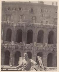Fouts stands in front of the Colosseum while in Italy in World War II.Photos submitted by ROSEMARY ANDERSON