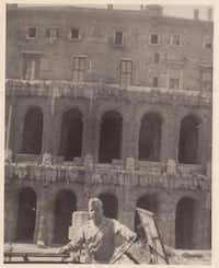 Fouts stands in front of the Colosseum while in Italy in World War II.( Photos submitted by ROSEMARY ANDERSON )