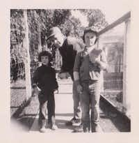 Fouts spends time with his children, Rosemary and Bob, around 1955.Photos submitted by ROSEMARY ANDERSON