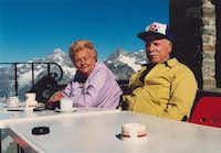 Paul and Dorothy Fouts  relax in Switzerland in 1988. The couple traveled all over the world together.(Photo submitted by ROSEMARY ANDERSON)
