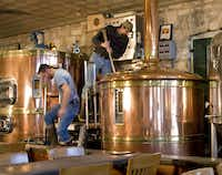 At Fredericksburg  Brewing Co., tours include a visit to the tank room.(Marc Bennett)