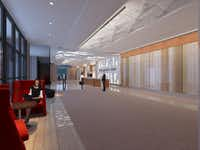 The building lobbies will get updates in a $16 million redo planned by the new owners of the Dallas Galleria Towers.( Contributed  -  Entos Design )