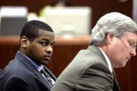 Alfred Brown at his 2005 murder trial in Houston. (AP Photo/Houston Chronicle, Jessica Kourkounis, File)