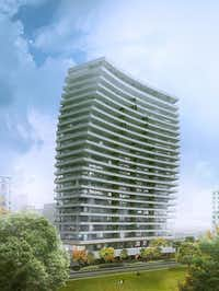 Canadian developer Great Gulf Homes is shooting for an early 2015 groundbreaking for its 22-story condo building at 2505 Turtle Creek Blvd. The 60 units will have huge terraces.(Great Gulf)