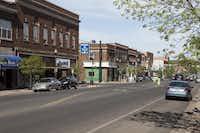 Hibbing, Minn., is the birthplace of Greyhound. Howard Street's buildings are circa the 1920s.( Jenn Ackerman and Tim Gruber  -  The Washington Post  )