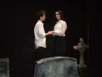 """Ben Villasenor and Bailey Thixton star in the Teen Scene Players' production of """"Ghouls & Graveyards,"""" Oct. 18-Oct. 27, at Dallas Children's Theater's Rosewood Center for Family Arts."""