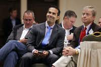 George P. Bush, son of former Florida governor Jeb Bush (and George W.'s nephew), prepares to speak to the Texas delegation during the Republican National Convention in Wesley Chapel, Fla.