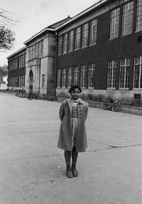 Linda Brown, at age 9, whose father was the namesake of the Brown vs. Board of Education case.