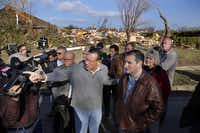 "Rowlett Mayor Todd Gottel took Sen. Ted Cruz on a tour of tornado-ravaged areas a few days after the Dec. 26 twister. ""Todd loves that city and loves everybody in it,"" says state Rep. Cindy Burkett of Sunnyvale.( Tom Fox  -  Staff Photographer )"
