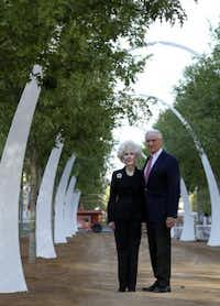Sheila and Jody Grant in the Klyde Warren Park (Vernon Bryant/Staff photographer)