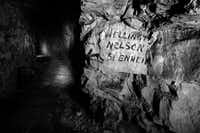 This photo shows a street sign in an underground World War I city.( Photo by DR. JEFF GUSKY  - jeffgusky.com)