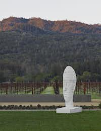 The Hall Wines Winery & Tasting Room, which opened last month in St. Helena, Calif., is distinguished by its art.( Adrián Gregorutti  -  Special Contributor )