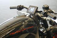 The control screen on Harley-Davidson's new electric motorcycle is shown at the company's research facility in Wauwatosa, Wis.M.L. Johnson - AP