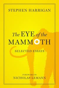 "Book jacket of ""The Eye of the Mammoth,"" by Stephen Harrigan."