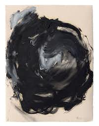 Joseph  Havel's    How to Draw  a Circle 4 , 2015, is a series of  12 drawings  in graphite, oil paint and oil stick on paper.(Talley Dunn Gallery - Talley Dunn Gallery)