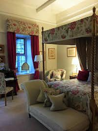 Rooms at Llangoed Hall, a luxury hotel, are large and inviting, as one might expect of an Edwardian mansion once owned by Sir Bernard Ashley and his wife,  designer Laura Ashley.(Janis Turk - Photo Copyright 2015 Janis Turk)