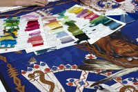 Colors for each scarf are determined using swatches sent from the Paris-based color committee.