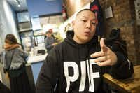 Eddie Huang, a chef and co-owner of BaoHaus, at the restaurant in New York, Jan. 10, 2013. Huang has built a career as an author and television personality based on his cultural mashups and critiques.