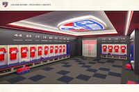 A rendering of the new locker rooms coming to Toyota Stadium in Frisco. (Courtesy FC Dallas)