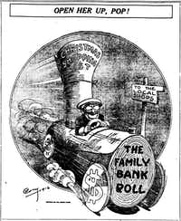 Merchants were on a roll with early shopping by the time a cartoon ran in the 1916 Washington Herald.