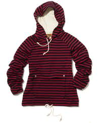 Hood winked: Band of Outsiders striped pullover with hood, $360, Barneys New York