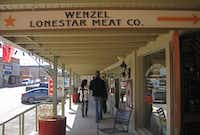 Wenzel's meat market and cafe sits in the historic Hamilton County Courthouse district.(June Naylor -  June Naylor )