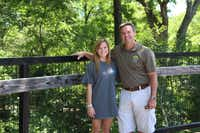 The Spring Creek Nature Area is the favorite park of Sarah Massey (left) daughter of Michael Massey, the director of Parks and Recreation for the city of Richardson.