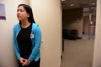 Ashley Nguyen, a senior at Frisco Liberty High School, waits for Dr. Kristine Guleserian, surgical director of pediatric cardiac transplantation at Children's Medical Center, to begin clinical rounds.( Photos by Rose Baca  - neighborsgo staff photographer)