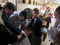 Sen. Ted Cruz and his wife, Heidi Cruz, stumped together in Keokuk, Iowa, on Tuesday. (staff/Todd J. Gillman)