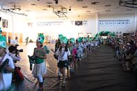 Girls paraded into the gym by grade level, each with a different theme.