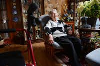 Watts sits in her living room in Duncanville. In November, Duncanville Police Department's Call and Leave a Message program helped her receive aid after she fell in her kitchen. 252ROSE BACA